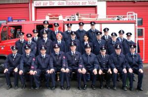 Bild Feuerwehr Rainrod Die Einsatzabteilung zum 75 jährigen Jubiläum